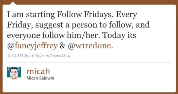 Twitter Follow Fridays